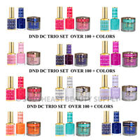 DND DC 3in1 Gel Polish Dipping Powder Trio Set 3pc ***PICK YOUR COLOR***