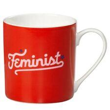 New Wild & Wolf Yes Studio Feminist Red Bone China Mug Gift Box 400ml Coffee Cup