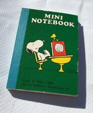 Vintage Mini Snoopy Peanuts Notebook 1965 United Feature Syndicate Blank Tiny