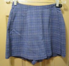 NEW SZ 6 REI WOMENS BLUE PLAID MOROCCO SKORT, POLYESTER NYLON BLEND, NWOT, $40
