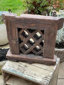 Antique Vintage Reclaimed Indian Jali Panel Mirror Architectural Salvage