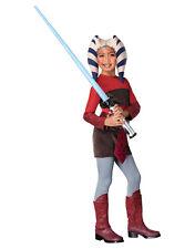 """Star WARS Kinder Clone Wars Ahsoka Kostüm s1, LRG, alter 8-10, Höhe 4' 8"""" - 5'"""