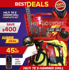 Hilti Te 5 Hammer Drill Preowned Durable Free Laser Meter Extras Fast Ship