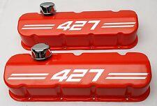 Big Block Chevy 427 Die Cast Aluminum Orange Valve Covers