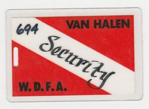 VAN HALEN 1983 South America Concert Tour Laminate Backstage Pass