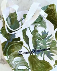Tommy Bahama Canvas Tote Bag Palm Print NWT