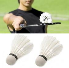 12pcs White Goose Feather Badminton Ball Shuttlecock Birdies Sport Training Game