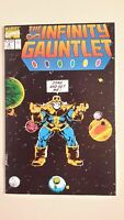 Infinity Gauntlet #4, NM 9.4, Thanos, Death of Iron Man, Cloak, Cyclops, Thor