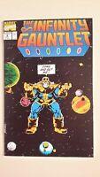 Infinity Gauntlet #4, NM 9.4, Thanos, Death of Iron Man, Cloak, Cyclops, Thor