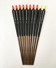 """Maver 10 No4 Lignum Shouldered Stick Fishing Floats 7 1/2"""" (19.5cm) Pack of 10"""