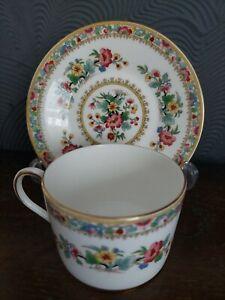 Coalport Ming Rose Bone China Flat Tea Cup and Saucer Set England.