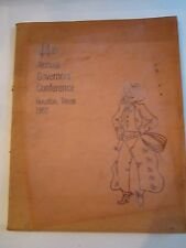 1952 44TH ANNUAL GOVERNOR'S CONFERENCE BOOK - HOUSTON, TEXAS -  BN-5