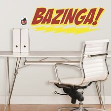 The Big Bang Theory Bazinga Logo Peel and Stick Giant Wall Stickers Decals NEW