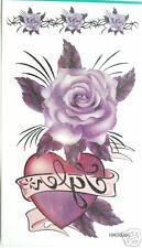 Rose Heart Glitter Temporary Tattoos #HM50301