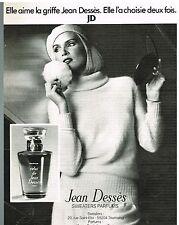 Publicité Advertising 1977 Parfum Celui de Jean Dessès