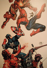 TERRY DODSON giclee CANVAS Marvel Knights Spider-Man # 2 SIGNED 2x exclusive COA Comic Art