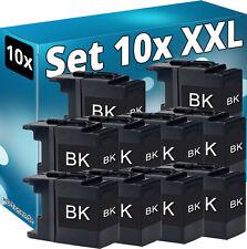 10x tinta cartuchos para Brother lc1220b lc1240bk lc1280bk DCP j525w j725dw j925dw