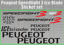 Peugeot speedfight 3 ICE BLADE Decals/Stickers SF3 iceblade 50 100 125 scooter