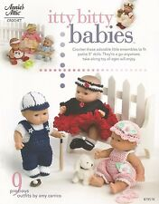 "Itty Bitty Babies Crochet Patterns 5"" Doll Outfits Dresses Annie's Attic NEW"