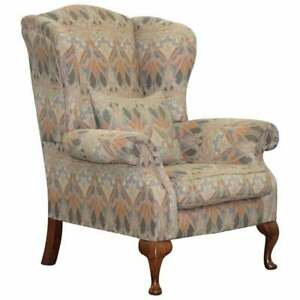 Fabric Wingback Chair Antique Chairs For Sale Ebay