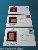 22K gold 7 replicas of United States of America Stamps first issue, new[a*7]