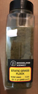 NEW Woodland Train Scenery Static Grass Flock Burnt Grass 32 oz FL633