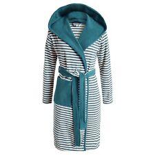 ESPRIT Bademantel Striped Blau Kapuze Morgenmantel Streifen Sauna Frottee