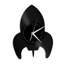 Space Rocket Vinyl Wall Clock Unique Gift for Friends Home Office Decoration