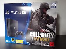 PlayStation 4 Pro Konsole 1TB 7116B + Controller + Call of Duty World War 2