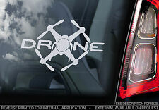 DRONE - Car Window Sticker - Drones Sign Quadcopter Vinyl Decal RC - V2