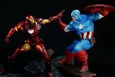 Costum captain America vs IR ,civil war statue 1/5scale,RARE ,NT Sideshow , Xm ,