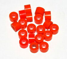 20 Meccano Part 38a / A238 Large Washer Orange Plastic Spacer