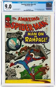 The Amazing Spider-Man #32 (Jan 1966, Marvel Comics) CGC 9.0 VF/NM | Dr. Octopus
