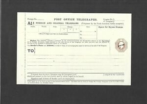GB Stationery KEVII 10d brown SPECIMEN Foreign & Colonial Telegraph Form TP59aa