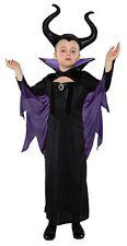 Girls Disney Villains Maleficent Fancy Dress Costume/Evil Queen Cosplay 5-6 Yrs