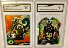 2015 Platinum TODD GURLEY Refractor LOT (2)! GMA 10 & 9 Gem Mint RC! PSA? BGS?