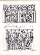 Gothic AUXERRE Chiesa stipiti della porta occidentale
