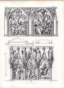 Gothic Auxerre Church Jambs Of Western Doorway