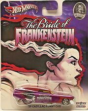 """Hot Wheels Pop Culture Monsters The Bride Of Frankenstein """"59 CADILLAC FUNNY CAR"""