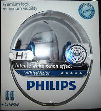 Philips H1 whitevision Intenso Xenon efecto actualización bombillas 4300k bombillas H1 + W5w