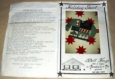 CHRISTMAS HOLIDAY PULLOVER SHIRT Uncut Sewing Pattern Sizes Small to Extra Large