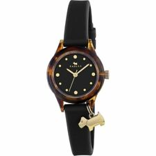 RY2324 Radley Watch Tortoise with Gold Highlights and Black Silicone Strap