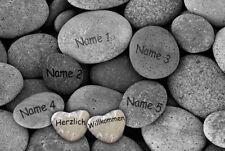 Fußmatte Natursteine waschbar mit mit Namen Geschenk Familie Umzug richtfest lav