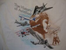 Vintage Pima Air & Space Museum The History Of Aviation 90's T Shirt Size 2XL