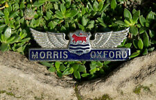 VINTAGE ENAMEL AUTOMOBILE CAR BADGE / EMBLEM # MORRIS OXFORD GREAT BRITAIN