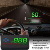 CAR GPS DIGITAL SPEEDOMETER HEAD-UP DISPLAY HUD OVERSPEED TIRED WARNING ALARM