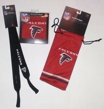 Atlanta Falcons Eyeglass/Sunglasses Microfiber bag, cleansing cloth & Retainer