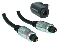 3m Premium Optisches Digital Kabel Toslink LWL SPDIF + Toslink-Winkelstecker