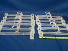 12 Retail Pants, Skirt, Clothes Hangers 11.5'' Plastic Snap Lock Metal Clip
