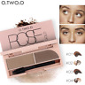 O.TWO.O EYEBROW KIT ALL DAY WEAR GEL BRUSH POWDER BROWN ASH TAUPE DEEP LIGHT